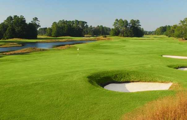 A view of the 4th hole from the Hummingbird Course at Wild Wing Plantation