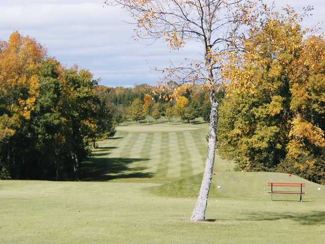 A view of fairway #1 at River Woods from Sheboygan Town & Country Golf Club