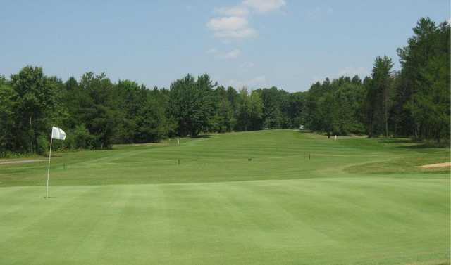 A view of a hole at Spring Brook Golf Course