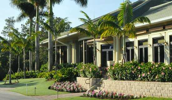 A view of the clubhouse at Cedar Hammock Golf & Country Club
