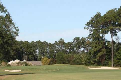 A view of the 6th hole at Otter Course at River Oaks Golf Club