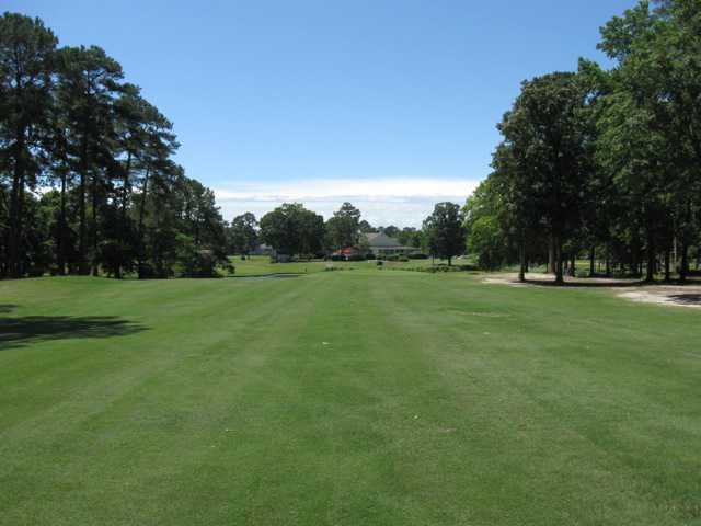 A view of fairway #2 at Island Green Country Club