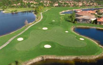 Aerial view of green #18 from The Club At Olde Cypress