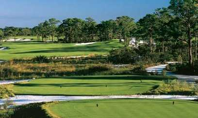 A view from a tee at Old Collier Golf Club
