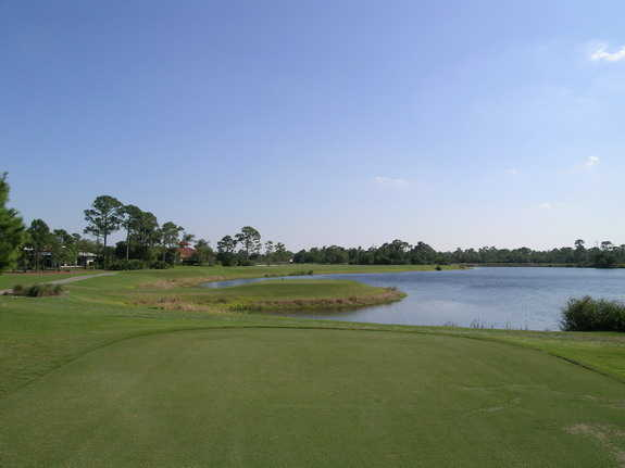 A view from the 5th tee at River Ridge from Harbour Ridge Yacht & Country Club
