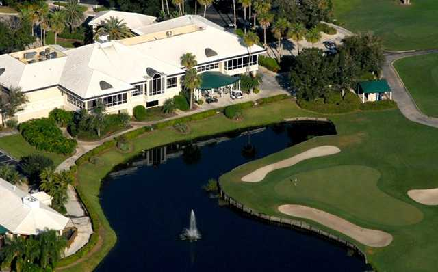 Aerial view of the clubhouse at Monarch Country Club