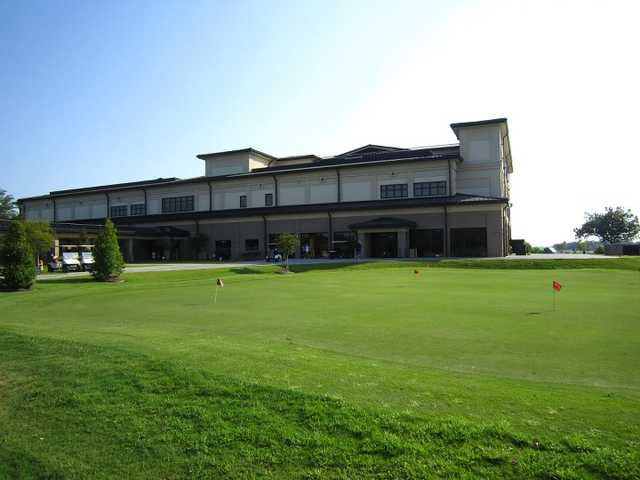 A view of the pro shop at Bay Breeze Golf Course