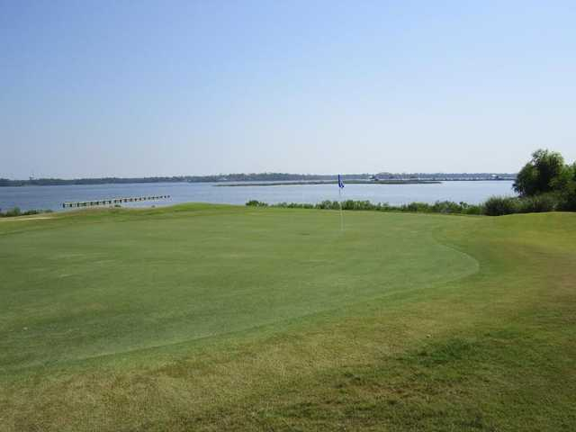 A view of green at Bay Breeze Golf Course