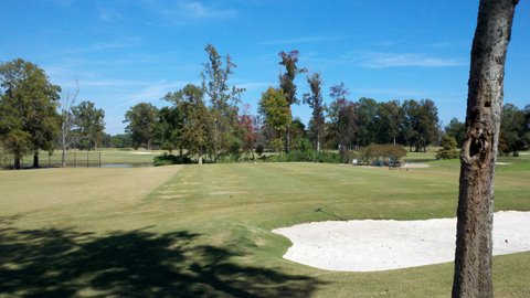 A view of the practice area at Country Club of Jackson