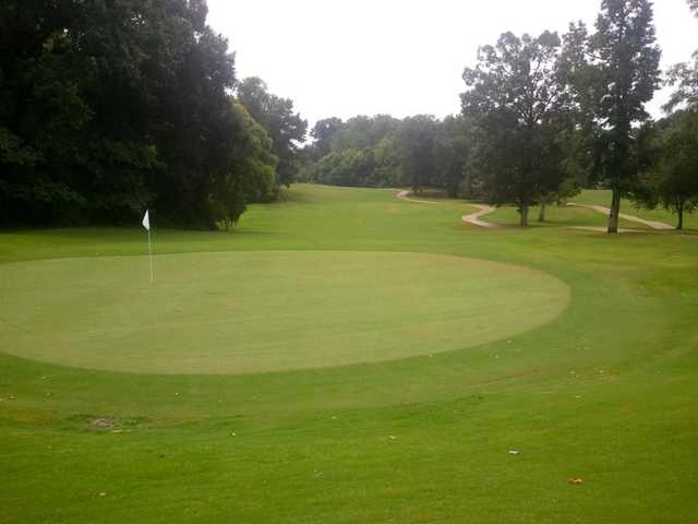A view of green at LeFleur's Bluff Golf Course