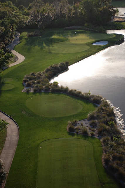 Celebration GC: Aerial view of the 16th hole