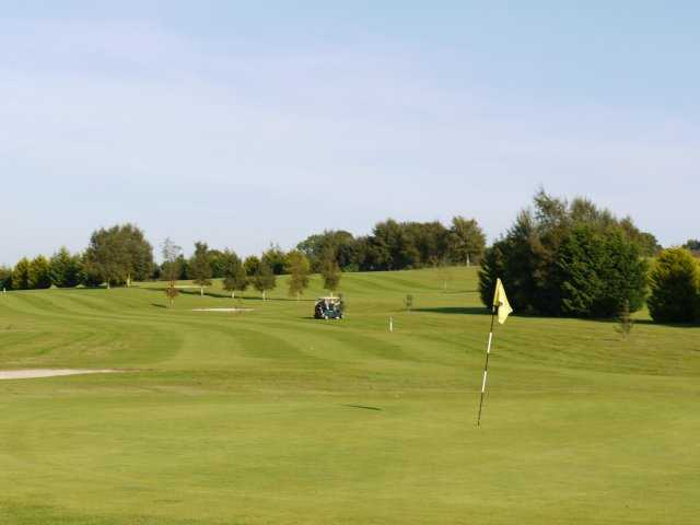 A view of the 14th hole at Mount Temple Golf Club