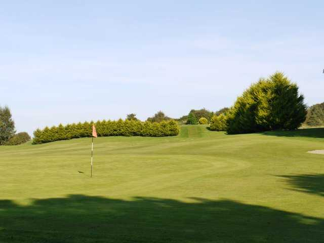 A view of green #8 at Mount Temple Golf Club