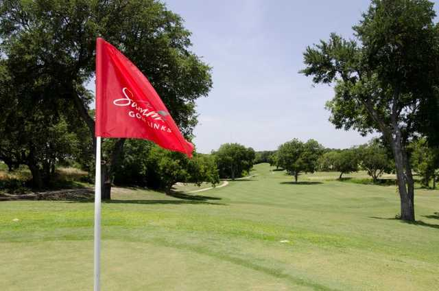 A view from green at Sammons Park Golf Course