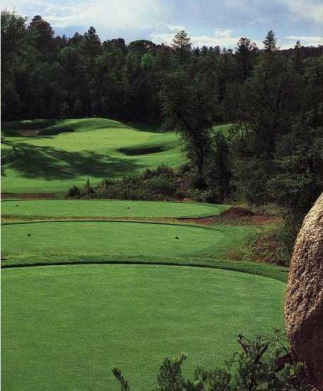 A view from tee #15 from Golf Club at Chaparral Pines