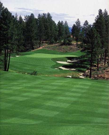A view from the 18th fairway from Golf Club at Chaparral Pines