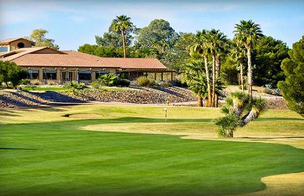 A view of the clubhouse at Wickenburg Country Club