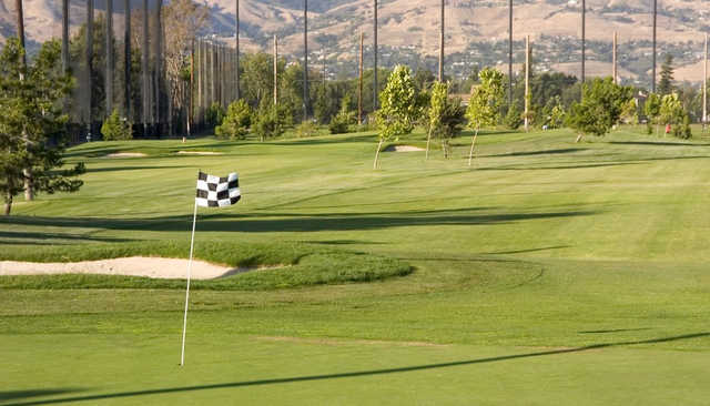 A view of a green at Rancho del Pueblo Golf Course