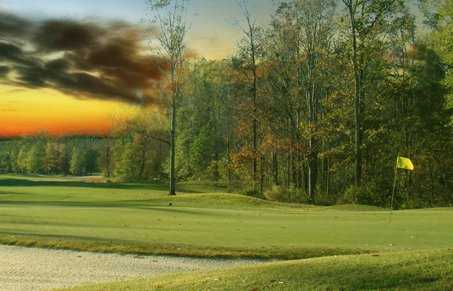 A view of a hole at Refuge Golf Course