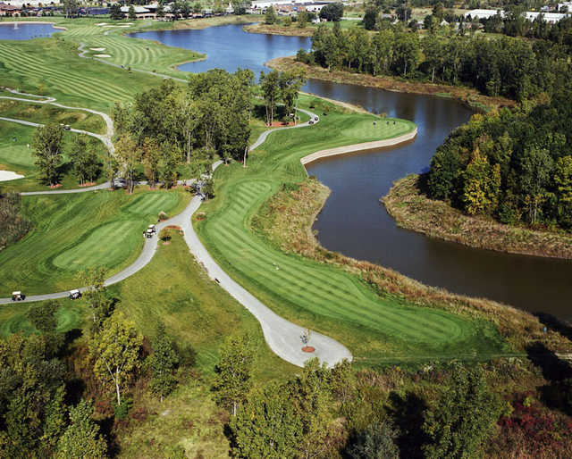Aerial view from Lakes of Taylor Golf Club