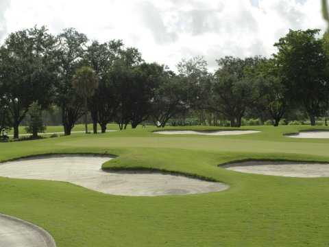 A view of hole #15 at Pembroke Lakes Golf & Racquet Club