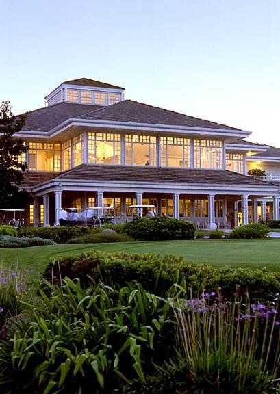A view of the clubhouse at Carmel Mountain Ranch Country Club