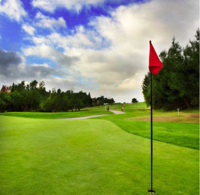 A view of a green at Carmel Mountain Ranch Country Club.
