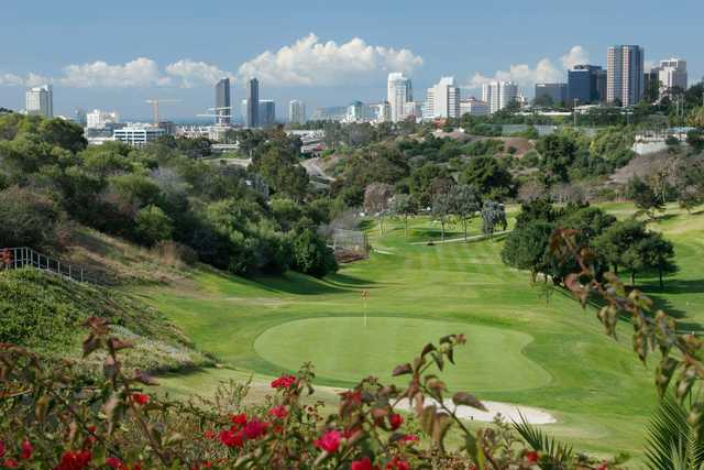 A view of green at Eighteen Hole from Balboa Park Golf Club.