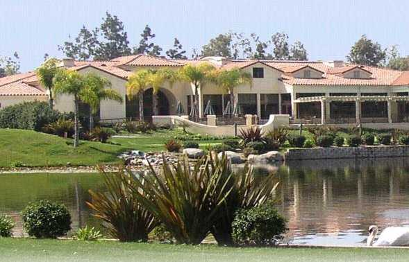 A view of the clubhouse at the Country Club of Rancho Bernardo.