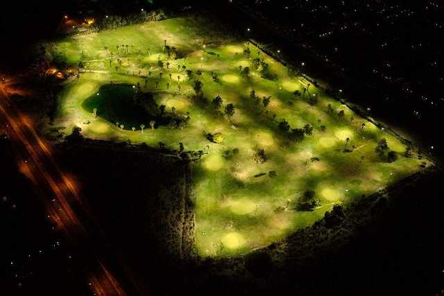 Aerial night view from Indio Golf Club
