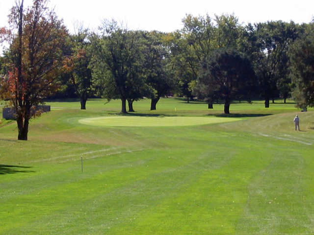 A view of the 7th hole at Twin Lakes Golf Club