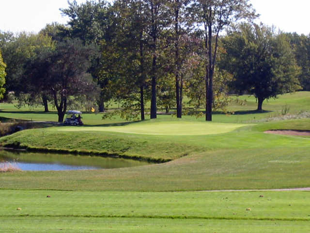 A view of the 16th green at Twin Lakes Golf Club
