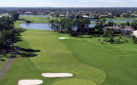 A view of the 4th fairway at PGA National Estates Golf Course
