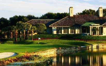 A view of the clubhouse at Old Marsh Golf Club