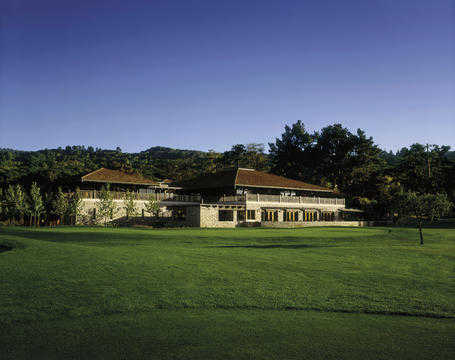 A view of the clubhouse at Quail Lodge Resort & Golf Club
