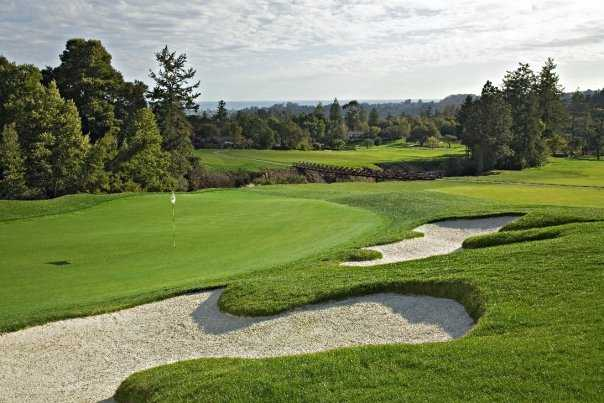 A view of the 11th hole at Pasatiempo Golf Club