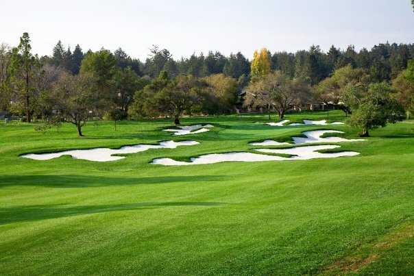 A view from fairway #13 at Pasatiempo Golf Club