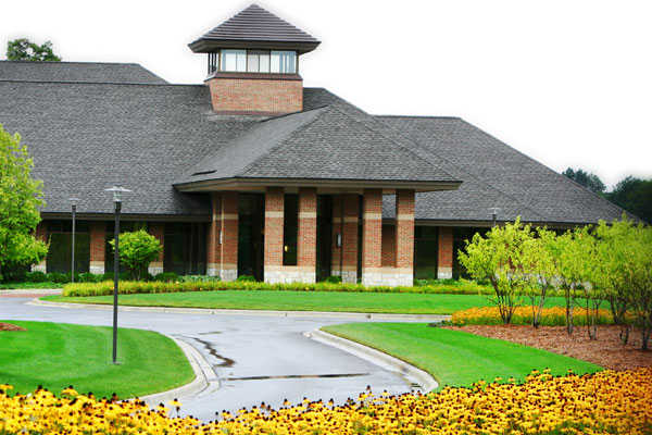 A view of the clubhouse at Lyon Oaks Golf Club