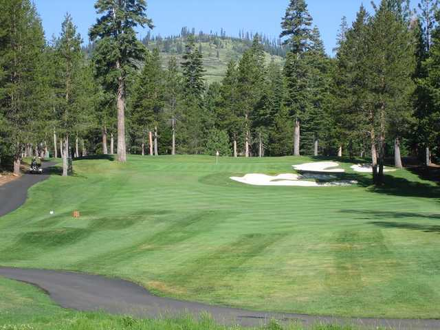 A view of fairway #4 at Tahoe Donner Golf Course