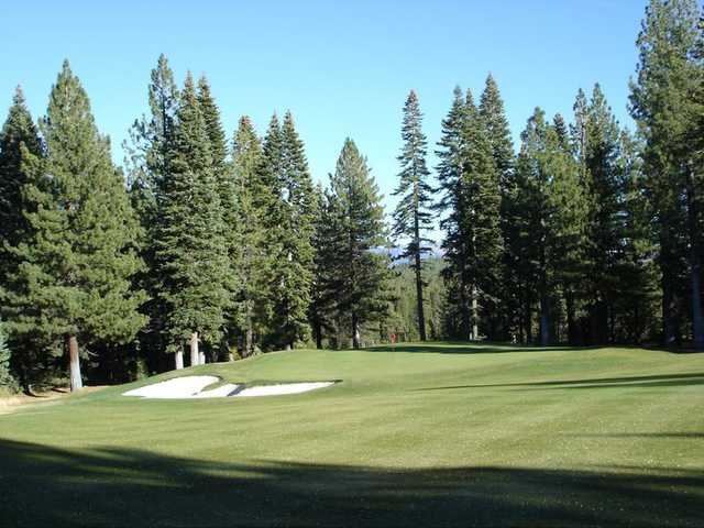 A view of the 7th green at Tahoe Donner Golf Course