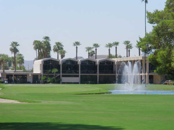 A view of the 18th hole at Phoenix Country Club