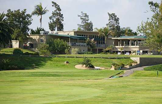 A view of the clubhouse at Marine Memorial Golf Course