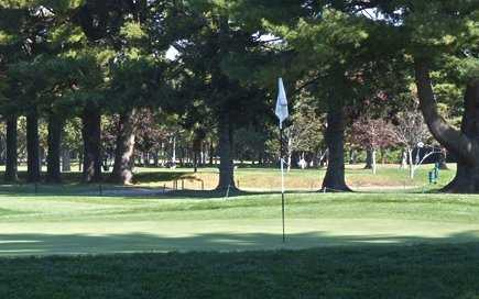 A view of a hole at Wayland Country Club