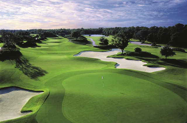 A view of the 13th green at Ritz-Carlton Members Golf Club.