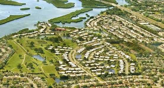Aerial view of River Isles Golf Course