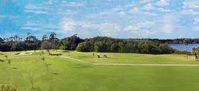 A view of a fairway at Lake Venice Golf Club