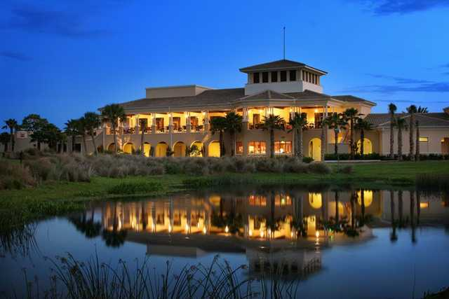 A view of the clubhouse at Venetian Golf & River Club