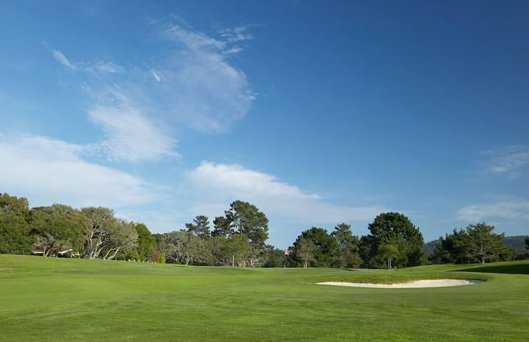 A view of the 1st hole at Del Monte Golf Course