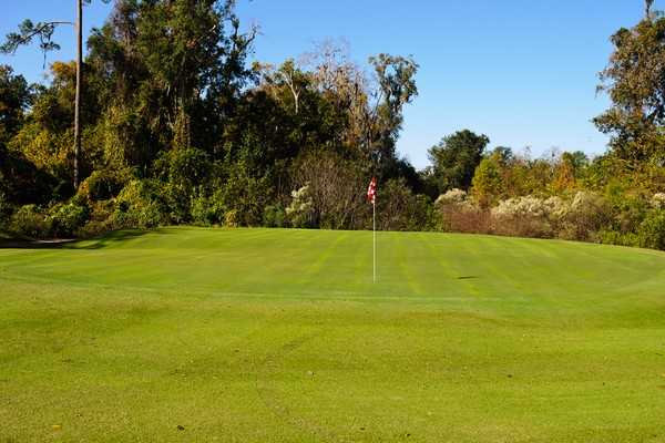 A view of green #15 from Mark Bostick Golf Course at The University of Florida