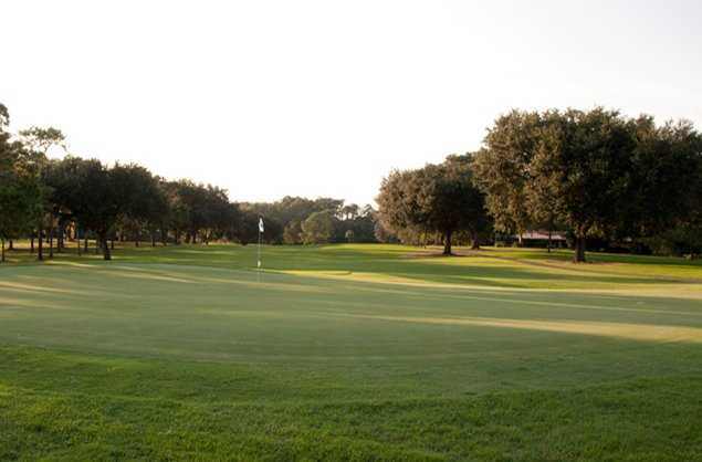 A view of a green at Gainesville Country Club